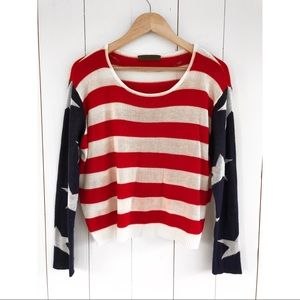 The Classic | Stars Stripes Knit Sweater Small